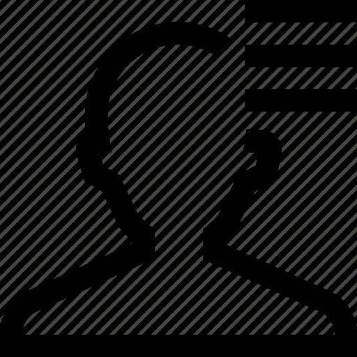 avatar, male, man, profile, settings, silhouette icon