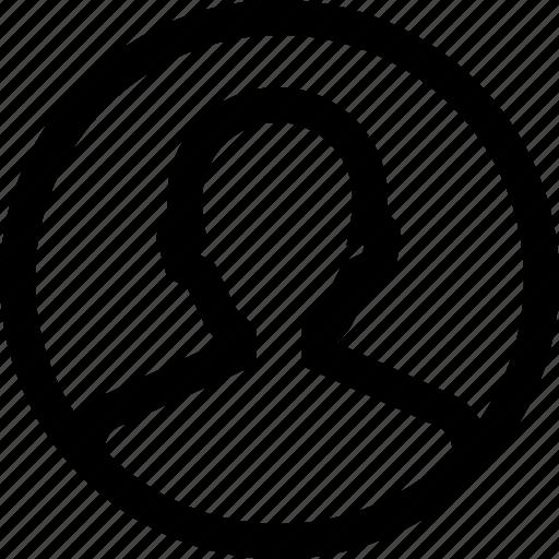 avatar, circule, male, man, profile, silhouette icon