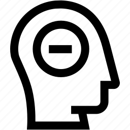 avatar, head, minus, profile, silhouette icon