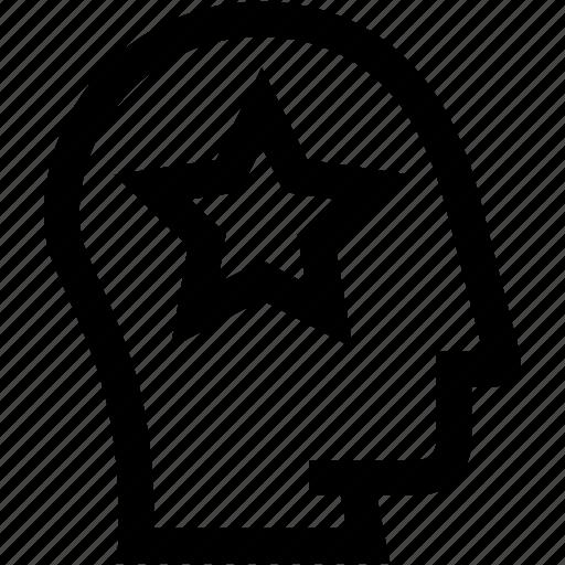 avatar, bookmark, favorite, head, profile, silhouette, star icon