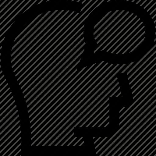 avatar, bubble, chat, head, profile, silhouette, talk icon