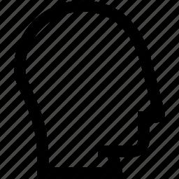 avatar, empty, head, profile, silhouette icon