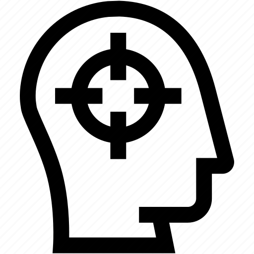 avatar, employee, head, profile, silhouette, target icon