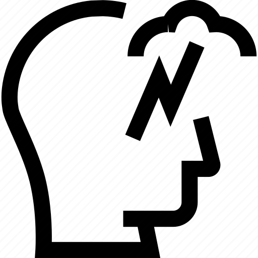 avatar, brain storming, head, profile, silhouette icon