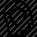 avatar, head, profile, protection, secure, shield, silhouette icon