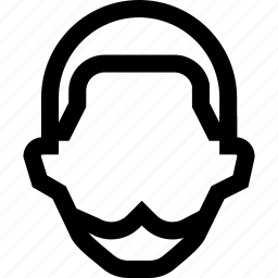 beard, colleague, employee, face, male, man, short icon