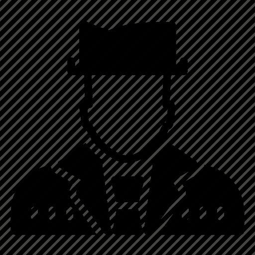 detective, human avatar, male, man, person icon