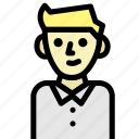 avatar, face, man, smile icon