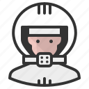 astronaut, avatar, caucasian, man icon