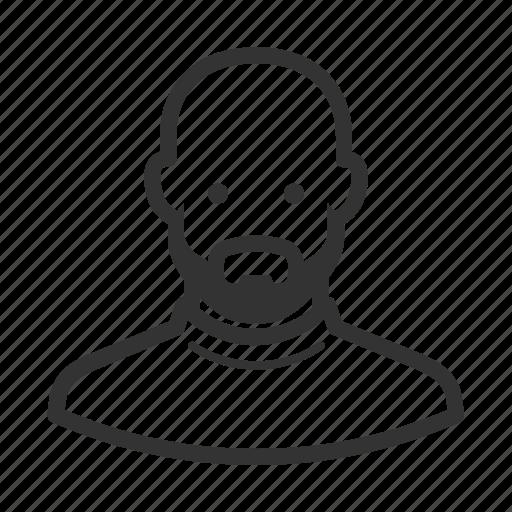 avatar, avatars, bald, beard, man icon