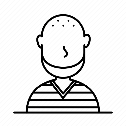 avatar, bald, chin, male, man, person, user icon