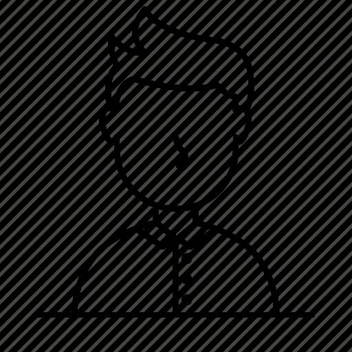 avatar, elegant, male, man, person, user icon