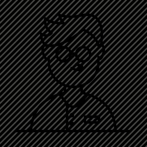 avatar, glasses, male, man, person, shirt, user icon