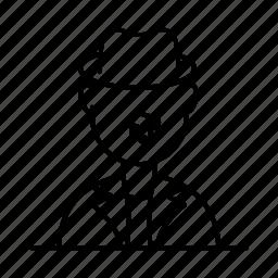 avatar, hat, male, man, moustache, person, user icon