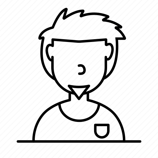 avatar, casual, chin, male, man, person, user icon