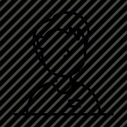 avatar, casual, male, man, person, shirt, user icon