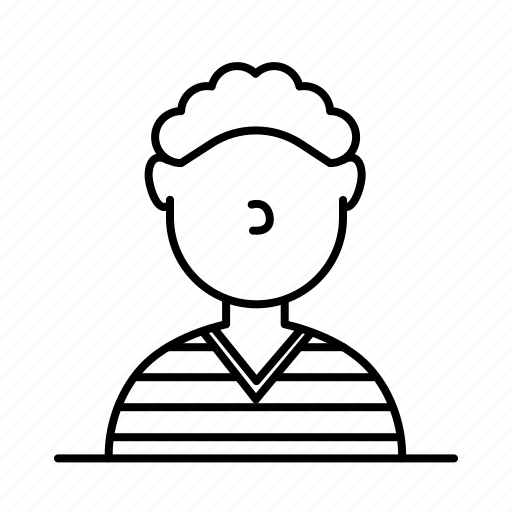 avatar, curly, male, man, person, shirt, user icon