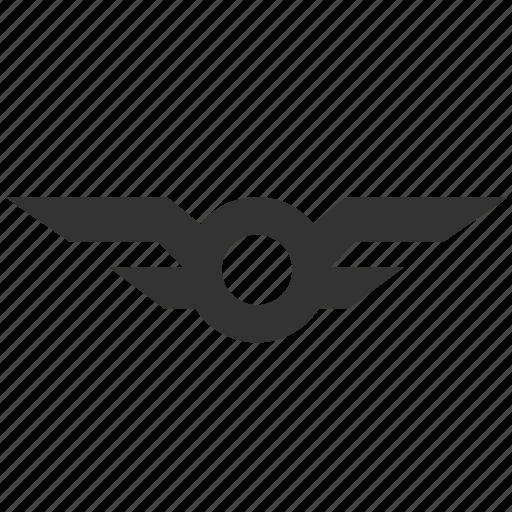 achievement, aviation, aviator badge, badge, emblem, logo, wing icon