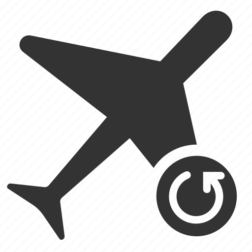 change, flight, rebooking, refresh, return, sync, update icon