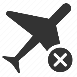 aviation, cancel, cancelled, expired, flight, gate closed, last call icon