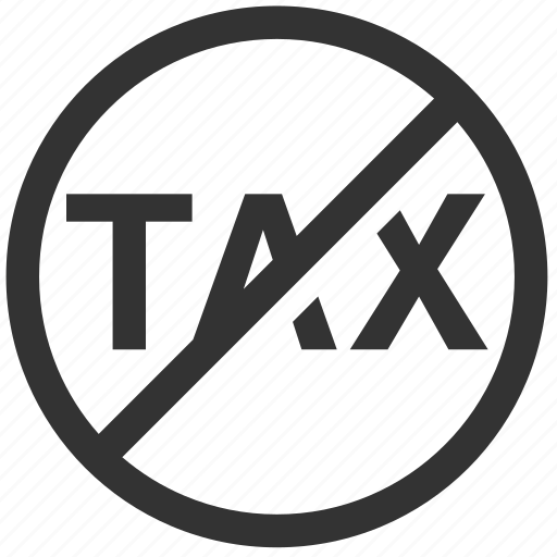 business, finance, fta, no tax, shopping, tax, tax free icon