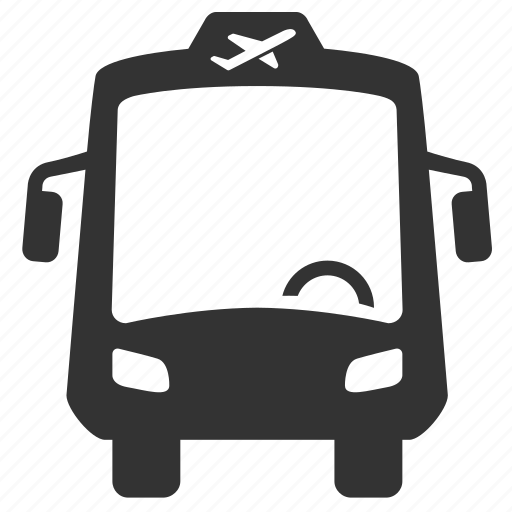 airport bus, airport shuttle, airport transfer, bus, coach, shuttle bus, transportation icon