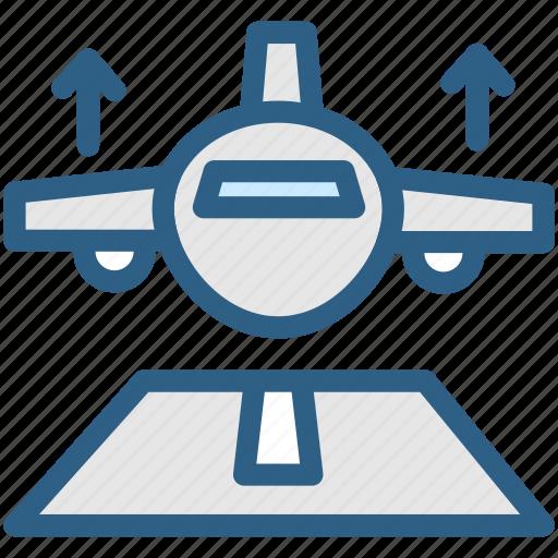 aeroplane, aircraft, airport, aviation, fly, plane, takeoff icon