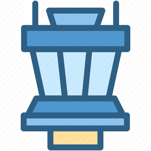 airport, airtraffic, aviation, building, center, control icon