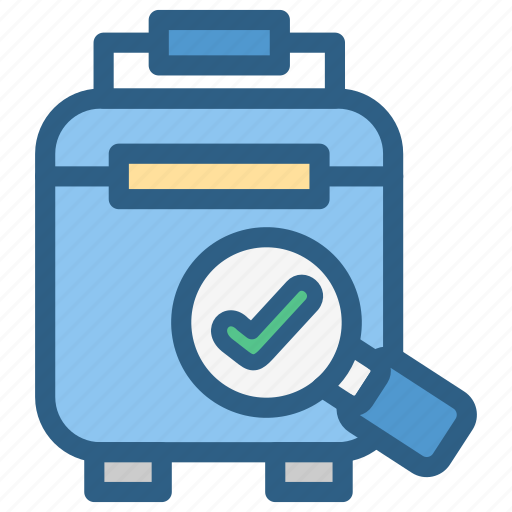 airport, aviation, bag, check, examination, suitcase, travel icon
