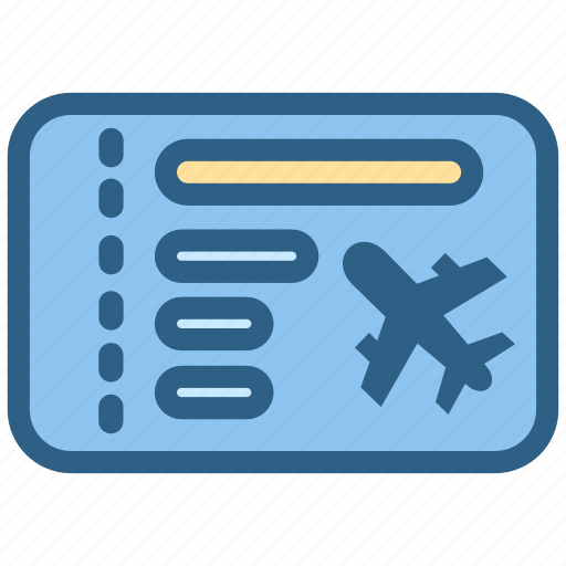 airport, aviation, boarding, pass, ticket icon