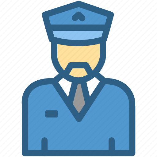airport, aviation, pilot, police, security icon