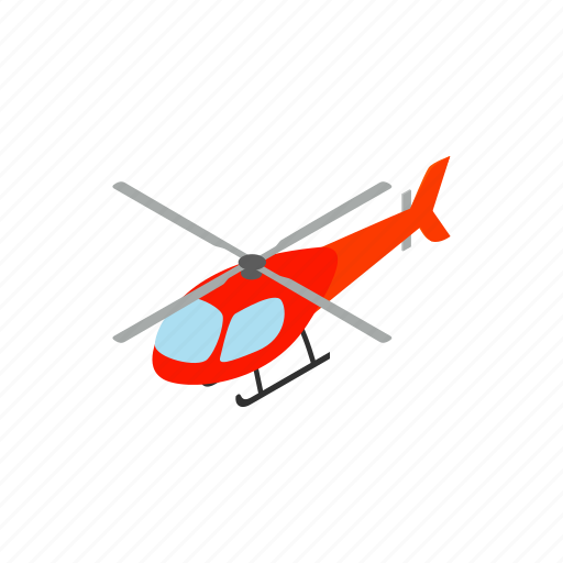 air, aircraft, aviation, flight, helicopter, isometric, transport icon