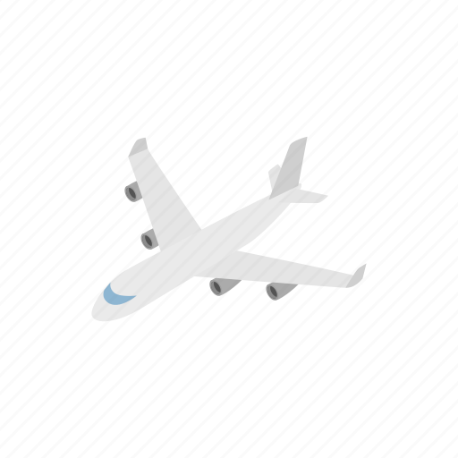 air, aircraft, airplane, flight, isometric, plane, transportation icon