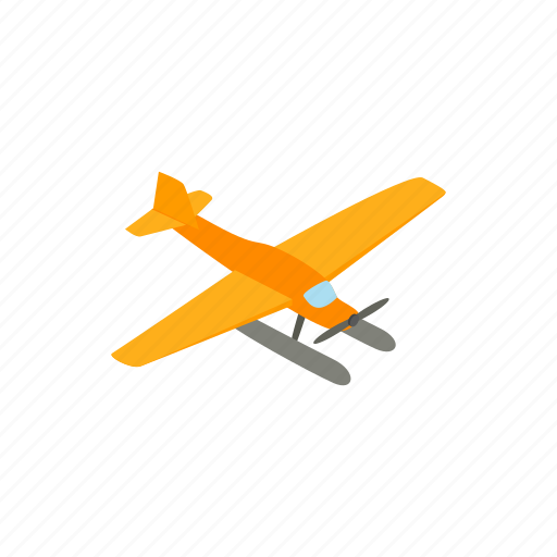 aircraft, airplane, aviation, flight, hydroplane, isometric, plane icon