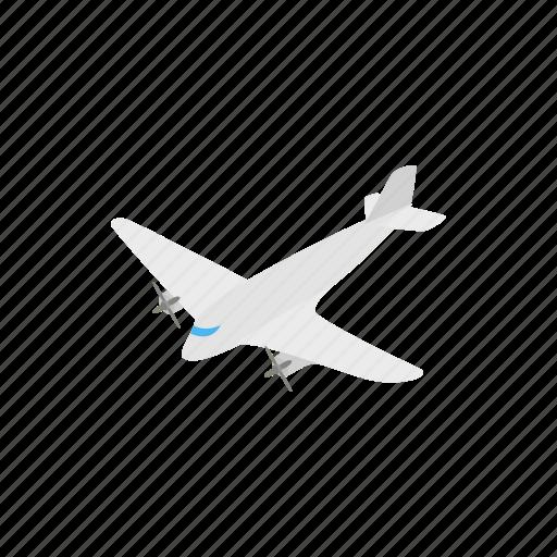 aircraft, airplane, aviation, isometric, light, plane, sky icon