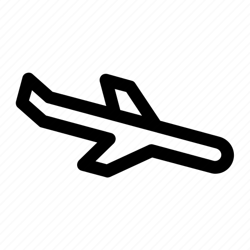 aircraft, airplane, airplane descent, aviation, descent, plane icon