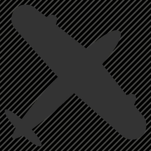 aeroplane, flight, fly, plane, screw airplane, transport, travel icon