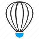 aerostat, air, airship, balloon, baloon, flight, fly icon