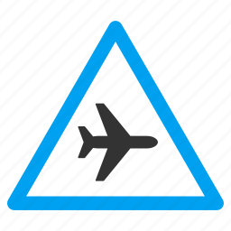 aircraft, airplane, alert, attention, danger, exclamation, warning icon