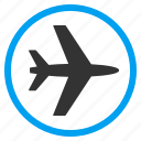 air plane, aircraft, airplane, airport, aviation, plane, transportation icon