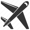 airplane, flight, jet, plane, transport, transportation, travel icon