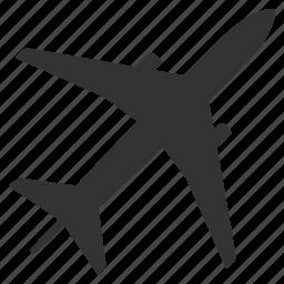 airplane, flight, fly, jet, plane, shipping, transportation icon