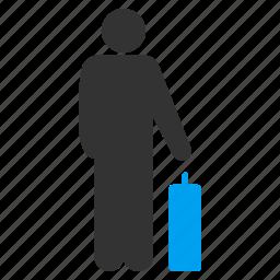 departure, journey, passenger, tourism, tourist, travel, travelling icon