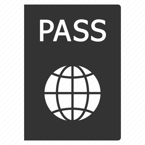 id document, identification, identity, pass, passport, permit, visa icon