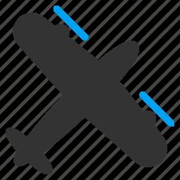 aircraft, aviation, flight, fly, plane, propeller airplane, transportation icon