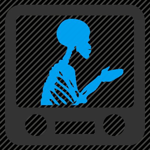 check, control, passenger, screen, skeleton, test, xray screening icon