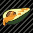 avocado, food, fruit, healthy, vegetable, kitchen, honey