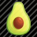 avocado, food, fruit, half, hand, seed