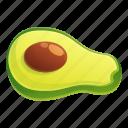 avocado, food, fruit, half, nature, tree