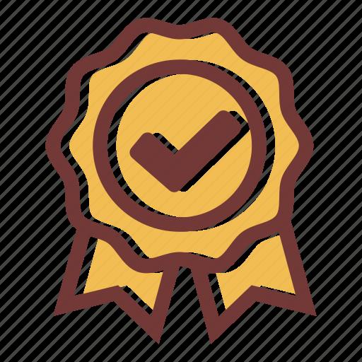 achievement, award, badge, medal, ribbon, star icon